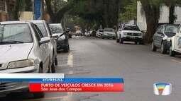 Número de furtos de veículos cresceu em São José