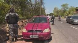Policiais que participavam de curso apreenderam um carro na rodovia Duca Serra, no Amapá
