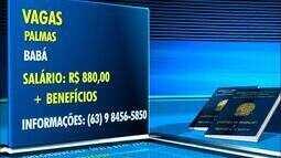 Veja o quadro de vagas de emprego em Palmas