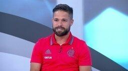 Diego diz que ficou decepcionado ao ser substituído no jogo contra o Palmeiras