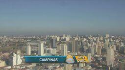 Dia começa com temperaturas baixas na região de Campinas