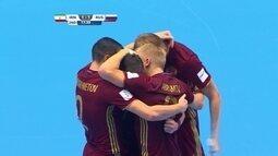 Os gols de Irã 3 x 4 Rússia pela semifinal da Copa do Mundo de Futsal