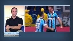 Ramiro, do Grêmio, fala da importância do golaço contra o Palmeiras