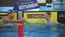 Felipe Lima fica com a prata nos 100m peito da etapa de Doha, da Copa do Mundo de natação