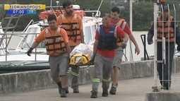 Naufrágio em Imbituba deixa um morto e seis desaparecidos