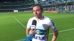 Juan enaltece superação do Coritiba com um a menos no empate com o Fluminense