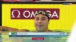 Felipe Lima conquista o ouro nos 100m peito na Copa do Mundo de Natação