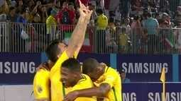 Os gols de Brasil 10 x 4 Taiti pela Copa Intercontinental de futebol de areia