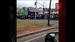 Protesto de estudantes contra a PEC 241 para o trânsito em Belo Horizonte
