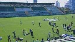 Bombeiros e Defesa Civil simula percurso do funeral de jogadores da Chapecoense