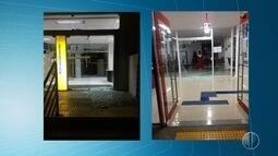 Bandidos explodiram duas agências bancarias no município de Caraúbas interior do Estado