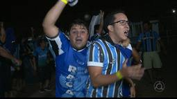Torcedores do Grêmio comemoram título da Copa do Brasil na Paraíba