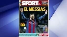 Jornais catalães anunciam título do Real de forma sóbria e colocam Messi na capa