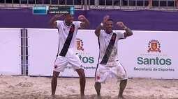 Os gols de Vasco 5 x 1 Sampaio Corrêa pela final do Brasileiro de futebol de areia