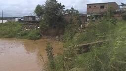 Chuvas provocam desmoronamentos na região do Cai N'água em Porto Velho