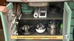 Veja como ganhar espaço nos armários de cozinha
