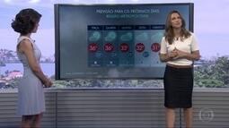 Sensação térmica pode chegar aos 45 graus nesta terça (17), no Rio