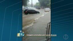 Telespectadores registram fortes chuvas no Noroeste Fluminense