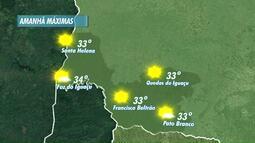 Previsão de sol forte e temperaturas altas amanhã