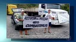 Caminhoneiros da Região Serrana realizam protesto nesta terça-feira
