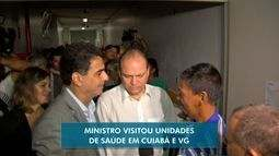 Ministro da Saúde visita Cuiabá e Várzea Grande e anuncia recursos