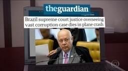 Morte de relator da Lava Jato é destaque na imprensa internacional