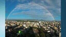 VC no ESTV: morador de Vila Velha registra arco-íris completo, no ES
