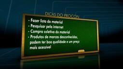 Preço de material escolar aumenta 7,5% em Campos, RJ, diz Procon
