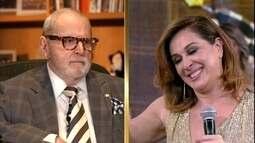 Cláudia Raia estreou na TV ao lado de Jô Soares
