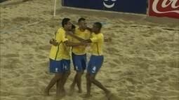 Os gols de Brasil 9 x 5 Colômbia pelas Eliminatórias da Copa do Mundo de futebol de areia