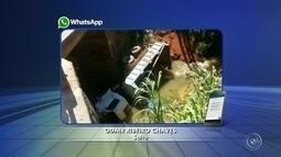 Motorista é socorrido após caminhão cair de ponte em Salto
