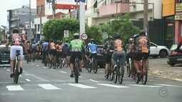 Ciclistas fazem manifestação para pedir mais respeito no trânsito de Rio Preto