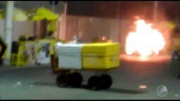 Flagrante: botijão de gás explode e provoca incêndio no circuito do Furdunço