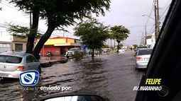 Chuva provoca alagamentos na capital sergipana