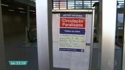 Estações Adolfo Pinheiro e Largo 13 do Metrô estão fechadas na manhã desta terça (21)