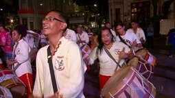 Maracatus ensaiam para o carnaval 2017 do Recife