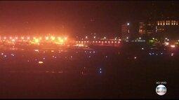 Avião da Latam tem problemas na turbina durante decolagem e Aeroporto de Congonhas fecha