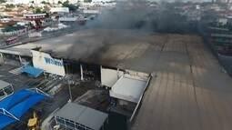 Bombeiros encerram operação de rescaldo em hipermercado de Americana