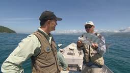 Xaréu e olho-de-boi estão entre os peixes fisgados em Angra dos Reis.