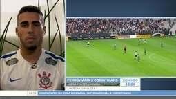 Gabriel comenta o confronto do Corinthians contra o Internacional pela Copa do Brasil