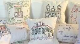 Bordadeiras se inspiram em paisagens de Ouro Preto e em poesias de Tomás Antônio Gonzaga