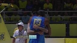 Pontos finais de Pedro Solberg/Guto 2 x 1 Saymon/Alvaro Filho pelo Circuito de Vôlei