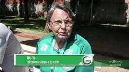 TV Goiás - Tia Fia, torcedora do Goiás, recebe homenagem pelo Dia Internacional da Mulher