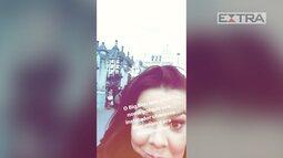 Fernanda Souza faz vídeo em Londres antes de atentado