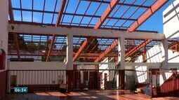 Obra de reforma da cozinha da igreja do Rosário e São Benedito está parada