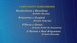 Futebol: veja como será terceira rodada do Rondoniense 2017