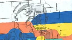 """Projeto """"Rainha das cores"""" está homenageando artistas através da arte de rua"""