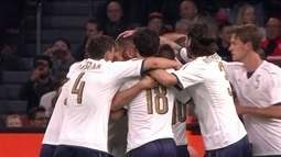 Os gols de Holanda 1 x 2 Itália em Amistoso Internacional