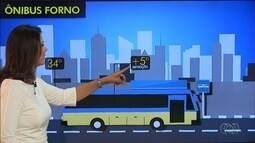 Em dias quentes, sensação térmica pode ficar 5ºC a mais dentro de ônibus em Goiânia