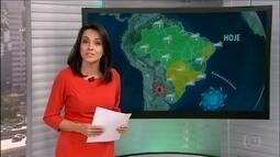 Veja a previsão do tempo para esta semana em todo o Brasil